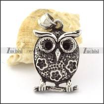 Stainless Steel night owl Pendant -p000658