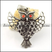 Stainless Steel Owl Pendant -p000645