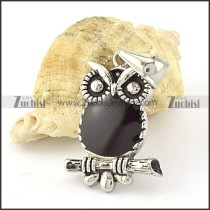 Stainless Steel night owl Pendant -p000661