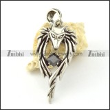 Stainless Steel Wolf Pendant -p000794