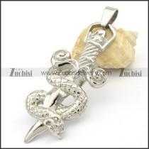 Stainless Steel Snake Sword Pendant -p000321