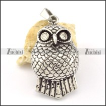 Stainless Steel Owl Pendant -p000631