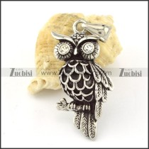 Stainless Steel Owl Pendant -p000634