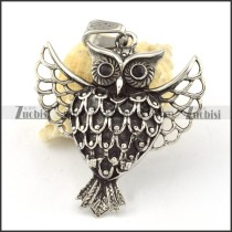 Stainless Steel Owl Pendant -p000644