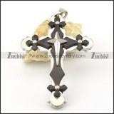 good-looking black noncorrosive steel Cross Pendants - p000545