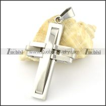 Wholesale Stainless Cross Steel Pendant -p000901