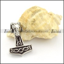 Stainless Steel Hammer of Thor Pendant -p000843
