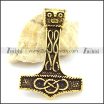Enjoyable Vintage Gold Plating Hammer Pendant -p001096