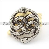 Long Stainless Steel headed snake Pendant -p000855