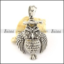 Stainless Steel Owl Pendant -p000862