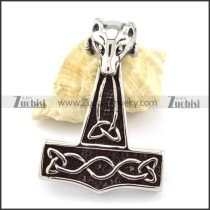Stainless Steel Hammer of Thor Pendant -p000845