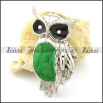 Owl Pendants with Green Epoxy -p001166