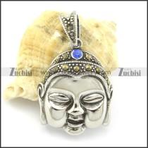 casting Buddha pendant with blue rhinestone p001368