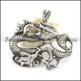vintage mens dragon pendant p001530