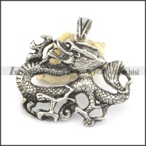 vintage mens dragon pendant p001530