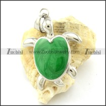 Green Tortoise Pendant -p001171
