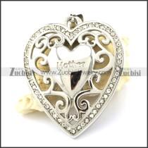 Hot Selling Rhinestone Heart Pendant -p001105