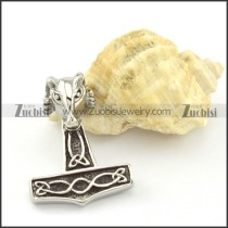 Stainless Steel Hammer of Thor Pendant -p000844