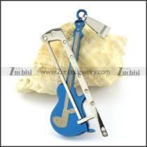 blue plating fiddle pendant -p000968