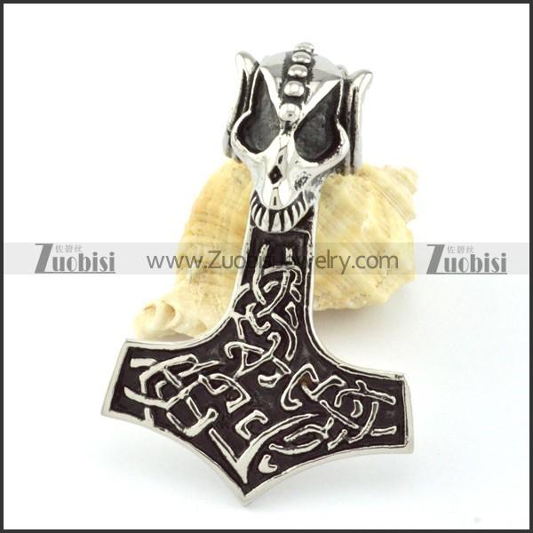 Stainless Steel Hammer of Thor Pendant -p000846