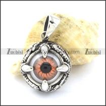 Orange Evil Eye Claw Pendant -p001127