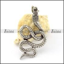 Long Fang Stainless Steel Snake Pendant -p000859