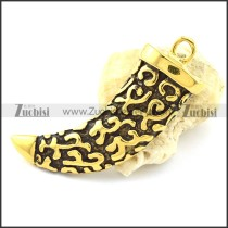 Antique Gold Garo Pendant -p001076