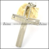 Silver Stainless Steel Cross Pendant p001599