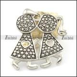 casting stainless steel lover pendants p001475