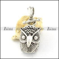 Stainless Steel Owl Pendant -p000863