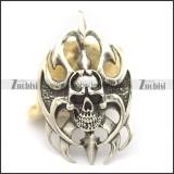 cool skull boomerang pendant p002034