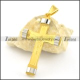 24K Gold Plated Cross Pendant p001601