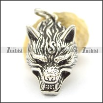 Stainless Steel Wolf Head Pendant p001988