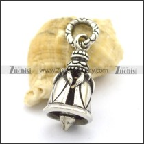 stainless steel bell pendant for bikers p001793