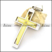 Yellow Gold Stainless Steel Cross Pendants p001790