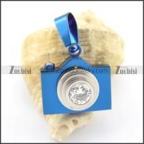blue plating camera pendant p001602