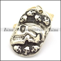7 Small Skull Heads and 1 Big Skull Head Tag Pendant p002146