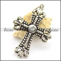 Crown of Thorns Cross Pendant p002177