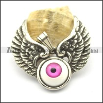 Big Violet Eyeball Angel Wing Pendant p002193