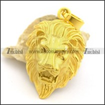 Shiny Yellow Gold Plating Lion Pendant p002164