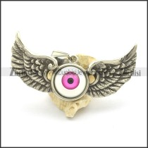 Purple Eyeball Angel Wing Pendant p002194