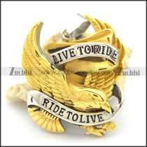 Two Tones RIDE TO LIVE Eagle Biker Pendant p002096