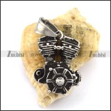 Solid Motorcycle Engine Pendant p002575