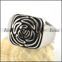 Stainless Steel Rose Flower Ring - r000070