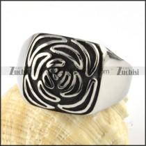 Stainless Steel Rose Flower Ring - r000070