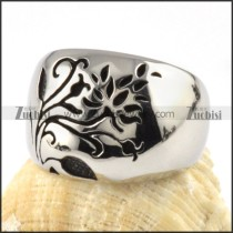 Smooth Flower Stainless Steel ring - r000084