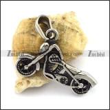 3D Motorbike Pendant in Stainless Steel p002576