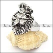 Stainless Steel Lion Ring -r000358