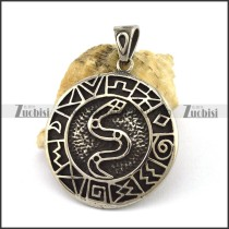 Blacken Snake Pendant p002824