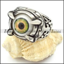 Unique Stainless Steel Eye Ring - r000322